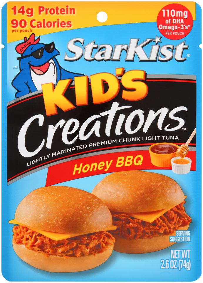 StarKist® Kid's Creations™ Honey BBQ Tuna 2.6 oz. Pouch