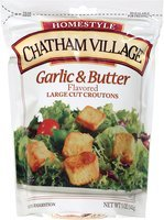 Chatham Village® Garlic & Butter Flavored Large Cut Croutons 5 oz. Bag