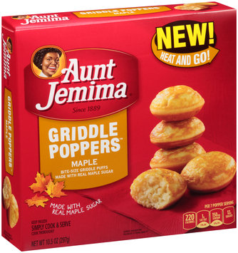 Aunt Jemima® Maple Griddle Poppers™ 10.5 oz. Box