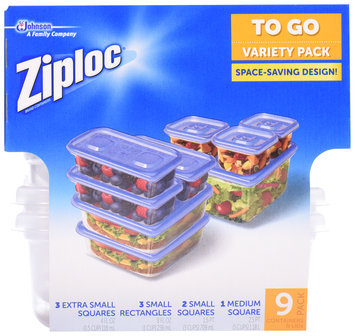 Ziploc® One Press Seal To Go Containers Variety Pack 9 ct Box