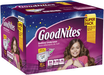 GoodNites® Bedtime Pants for Girls L/XL
