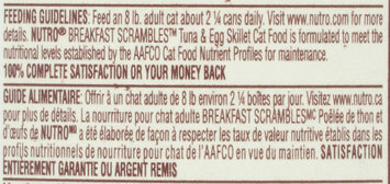 Nutro® Breakfast Scrambles™ Adult Tuna & Egg Skillet in Savory Sauce Cat Food 3 oz. Can