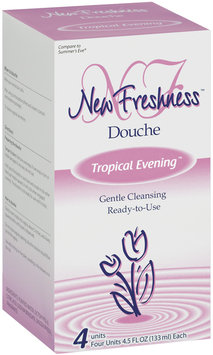 New Freshness Tropical Evening Douche 4 Ct Box