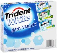 Trident White Sugar Free Gum Mint Variety Pack 12-16 Piece Packs