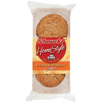 Schnucks Home Style Peanut Butter Cookies 10 Oz Tray