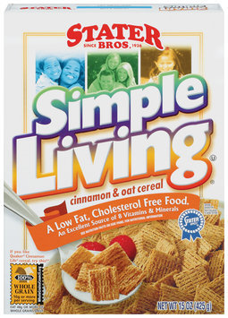 Stater Bros. Simple Living Cinnamon & Oat Cereal 15 Oz Box