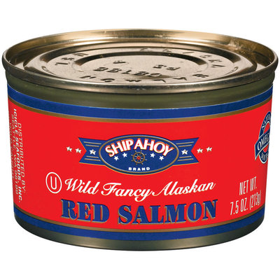 Ship Ahoy Wild Fancy Alaskan Red Salmon 7.5 Oz Can