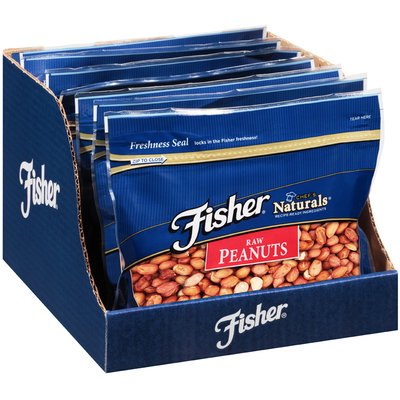 Fisher® Chef's Naturals® Raw Peanuts 16 oz. Stand-Up Bag