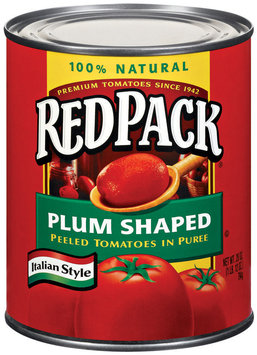 RedPack Plum Shaped Peeled In Puree Italian Style Tomatoes 28 Oz Can