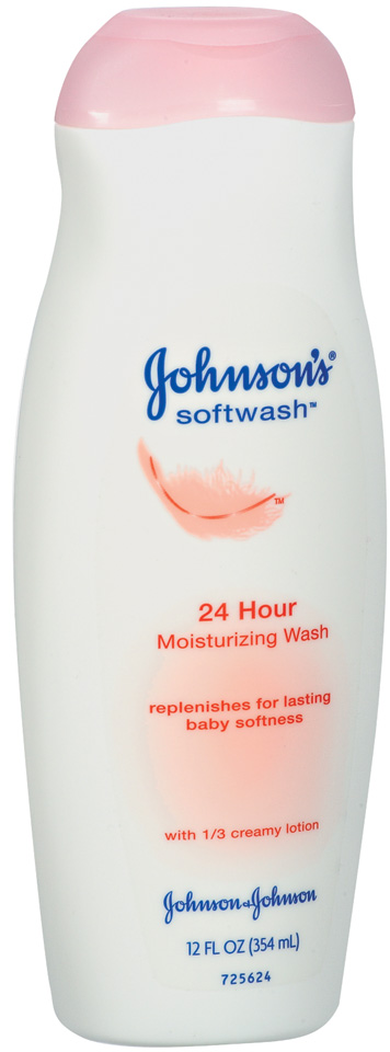 Johnson's® 24 Hour Moisturizing Wash Softwash™ 12 Fl Oz Plastic Bottle