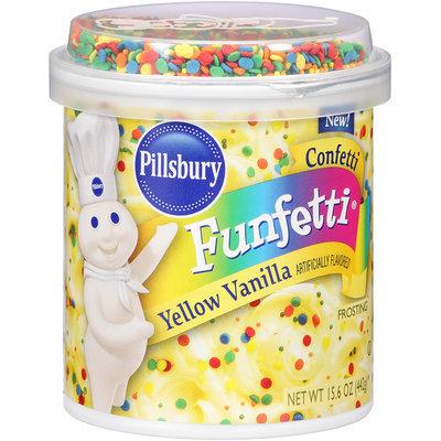 Pillsbury Funfetti® Confetti Yellow Vanilla Frosting 15.6 oz. Canister