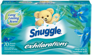 Snuggle® Exhilarations® Blue Iris & Bamboo Silk® Fabric Softener Dryer Sheets 70 ct Box
