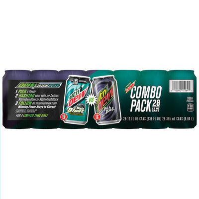 Mountain Dew® Combo Pack Baja Blast® and Pitch Black® Soda 28-12 fl. oz. Cans
