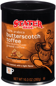 Stater Bros.® Butterscotch Toffee Mild Roast Ground Coffee 10.3 oz. Canister