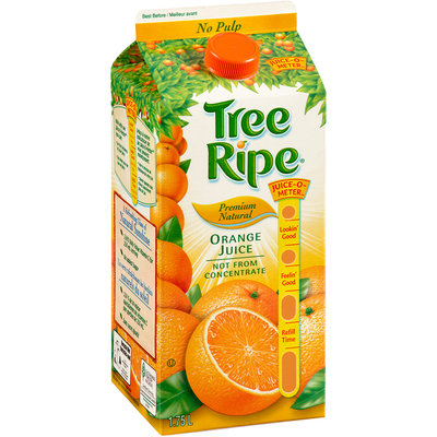 Tree Ripe® Premium Natural No Pulp Not from Concentrate Orange Juice 1.75L Carton