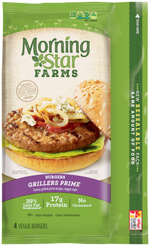 MorningStar Farms® Grillers Prime® Burgers 10 oz. Box