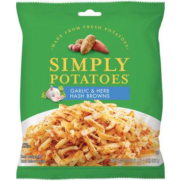 Simply Potatoes® Garlic and Herb Hash Browns 20 oz. Bag
