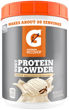 Gatorade Recover® Vanilla Whey Protein Powder 19.7 oz. Plastic Canister