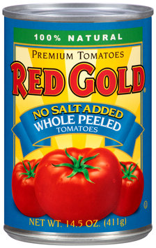Red Gold® No Salt Added Whole Peeled Tomatoes 14.5 oz. Can