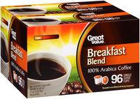 Great Value™ Breakfast Blend Light 100% Arabica Coffee Single Serve Cups 96–0.33 oz. Box