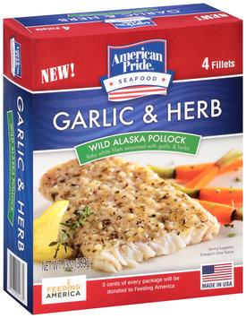 American Pride® Garlic & Herb Wild Alaska Pollock 4 ct Box