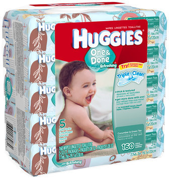 Huggies® One & Done Refreshing Baby Wipes 5 ct Packs