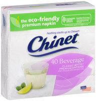 Chinet® Classic White™ Premium Beverage Napkins 2 Ply 40 ct Pack