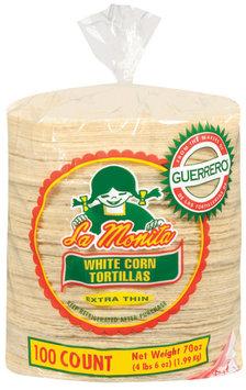 La Monita White Corn Extra Thin Tortillas 100 Ct Bag