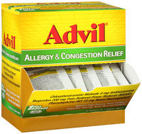 Advil® Allergy & Congestion Relief Coated Tablets 50-1 ct Pouches