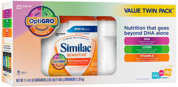 Similac Sensitive® Powder Infant Formula with Iron 2-1.41 lb. Canisters