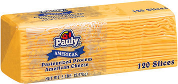 Pauly American 120 Slices Cheese 5 Lb Brick