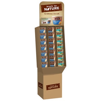 Back to Nature Original Elbow/Phineas & Ferb Shapes/Whole Grain Macaroni & Cheese Cups 40 ct Display
