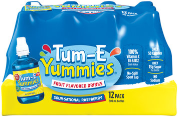 Tum-E Yummies Sour-Sational Raspberry Fruit Flavored Drink 12-10.1 fl. oz. Plastic Bottles