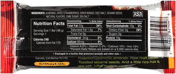 Mrs. May's Naturals® Almond Crunch Snack Bar Strawberry Mango 1.7 oz Wrapper