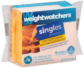 Weight Watchers® Singles Reduced Fat American Cheese 16 ct Pack