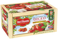 Del Monte™ California Diced with Basil Garlic & Oregano Tomatoes 6-14.5 oz. Cans