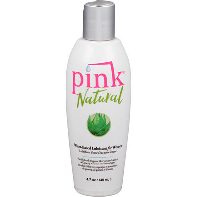 Pink® Natural Water-Based Lubricant for Women 4.7 oz. Bottle