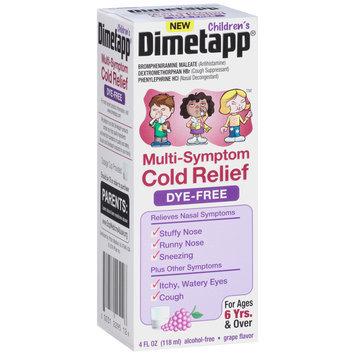 Children's Dimetapp® Multi-Symptom Cold Relief Antihistamine, Cough Suppressant & Nasal Decongestant Liquid 4 Fl. Oz. Box