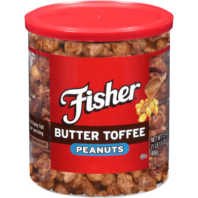 Fisher® Butter Toffee Peanuts 17.5 oz. Can
