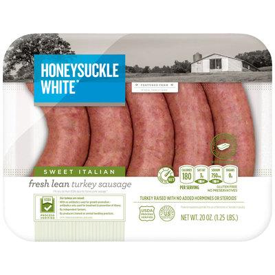 Honeysuckle White Fresh Sweet Italian Turkey Sausage Exact Weight 1.25 lb 6P