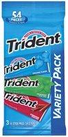 Trident Variety Pack Original Flavor/Spearmint/Cinnamon 18 Sticks Sugar Free Gum 3 Pk Peg