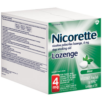 Nicorette® 4mg Mint Lozenge Stop Smoking Aid