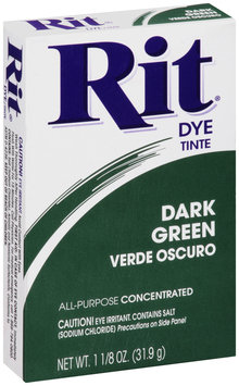 Rit® All-Purpose Concentrated Dark Green Dye 1.125 oz. Box