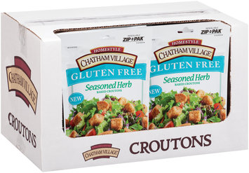 Chatham Village® Gluten-Free Seasoned Herb Baked Croutons 4 oz. Pouch