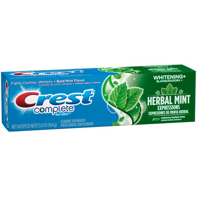 Whitening Crest Complete Whitening + Herbal Mint Expressions Toothpaste, 5.8 oz
