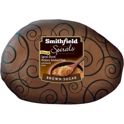 Smithfield® Spirals™ Brown Sugar Glazed Spiral Sliced Smoked Ham