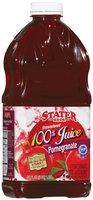 Stater Bros. Pomegranate Unsweetened  Juice 64 Fl Oz Plastic Bottle
