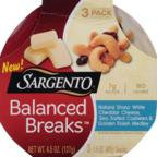 Sargento® Balanced Breaks™ Natural Sharp White Cheddar Cheese/Cashews/Golden Raisin Medley Snack 3-1.5 oz. Packs