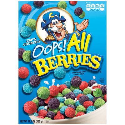 Cap'n Crunch Oops! All Berries Cereal 11.5 Oz Box