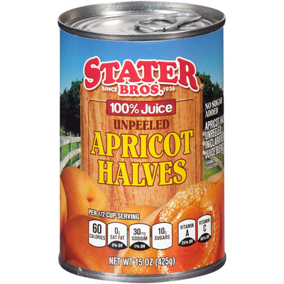 Stater Bros.® Unpeeled Apricot Halves 15 oz. Can
